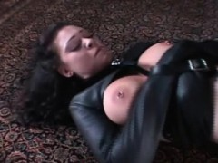 Huge-chested Dame In Chains Gets Her Gams Wide Stretched