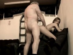 Dirty Old Grandpa Ravage Young Dame She Even Climbs His Ladder